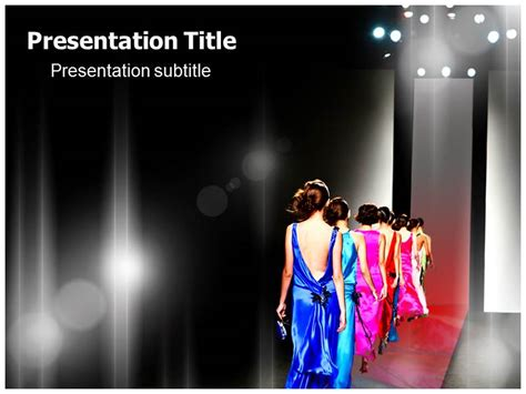 powerpoint ppt template on fashion show catwalk ppt