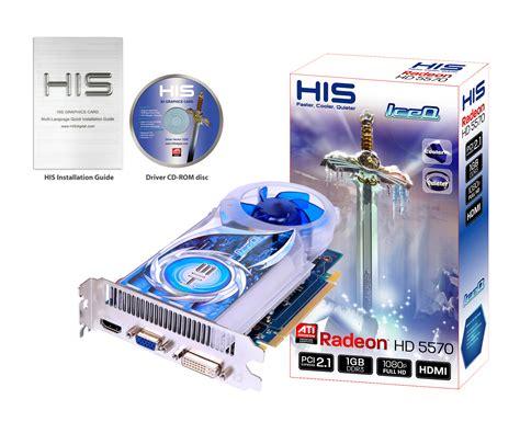 Vga Ati Radeon Hd 5570 1gb Ddr3 128 Bit His Hd 5570 Iceq Directx 11 Hd 1080p 1gb 128bit