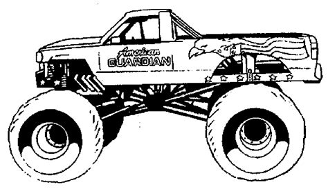 monster trucks coloring pages 27283 bestofcoloring com