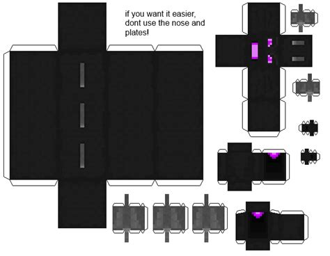 Minecraft Papercraft Ender - papercraft bendable ender