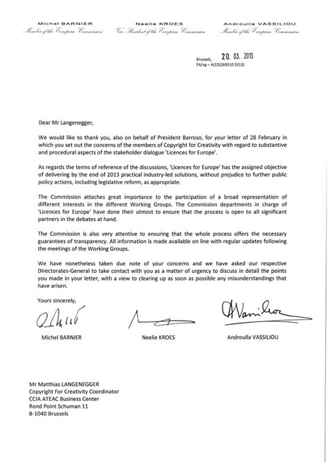 Inquiry Letter In German Letter To European Commissioners Feb 2013 C4c