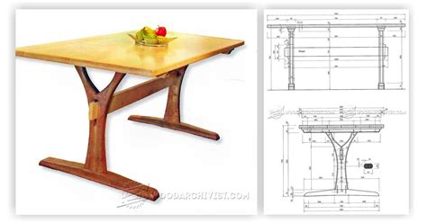 Dining Table Blueprints Dining Table Plans Woodarchivist