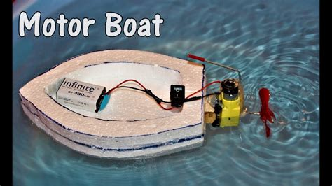 motor boat easy how to make an electric motor boat easy youtube