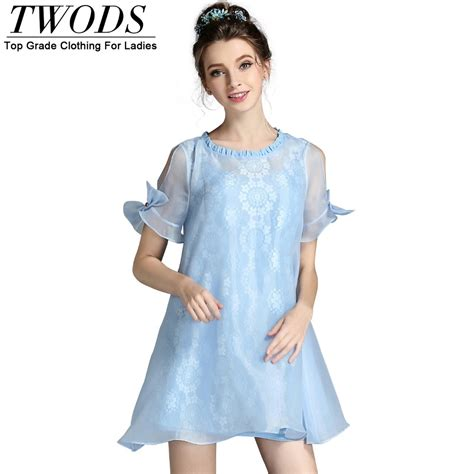 Big Size Light Blue Dress M 6xl twods s 5xl 2016 new fashion light blue summer dress for