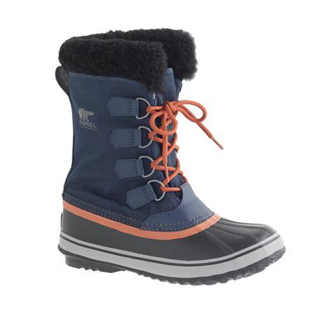 j crew winter boots j crew s sorel winter carnival boots in blue lyst