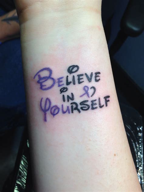tattoo fonts disney disney font believe in yourself with relay