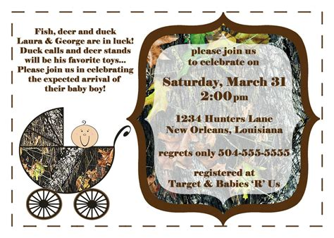 Mossy Oak Baby Shower Invitations by Camouflage Baby Shower Invites Mossy Oak Camo With Baby