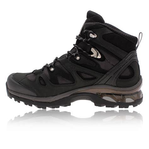 black hiking boots for salomon mens comet 3d black tex waterproof trail