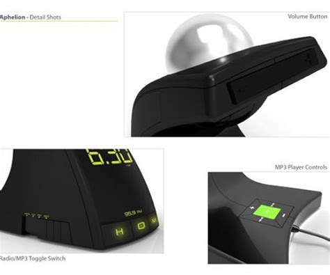 Hybrid Alarm Clock Concept by Aphelion Concept Alarm Clock 3 Technabob
