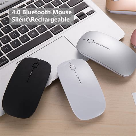 new bluetooth 4 0 wireless mouse mini rechargeable