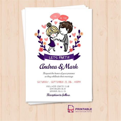 219 Best Wedding Invitation Templates Free Images On Pinterest Bridal Invitations Reception Invitation Templates Free