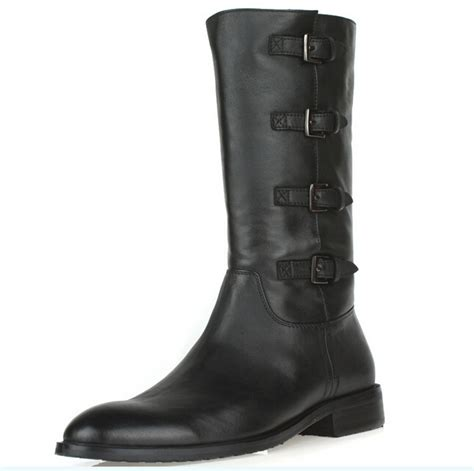new large size mens boots genuine leather fashion