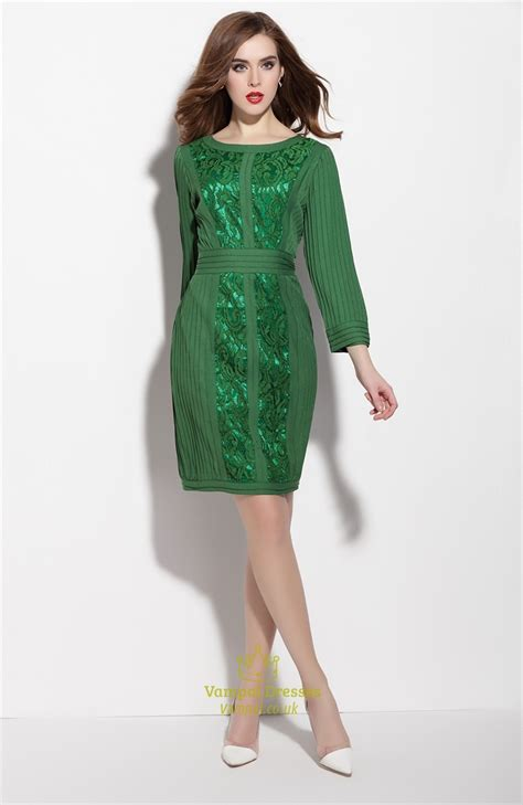 emerald green long sleeve dress emerald green long sleeve dress with lace embellished