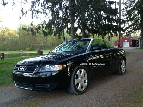 Audi A4 Door by 2003 Audi A4 Cabriolet Convertible 2 Door 1 8t Black On