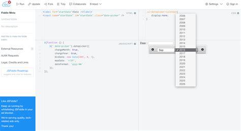 javascript date format jsfiddle javascript set min max date of jquery datepicker stack