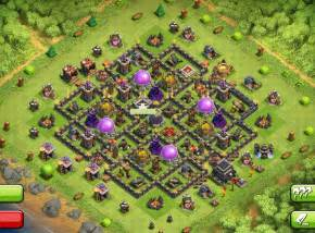 Clash of clans town hall th9 farming base the trap 2014 apps
