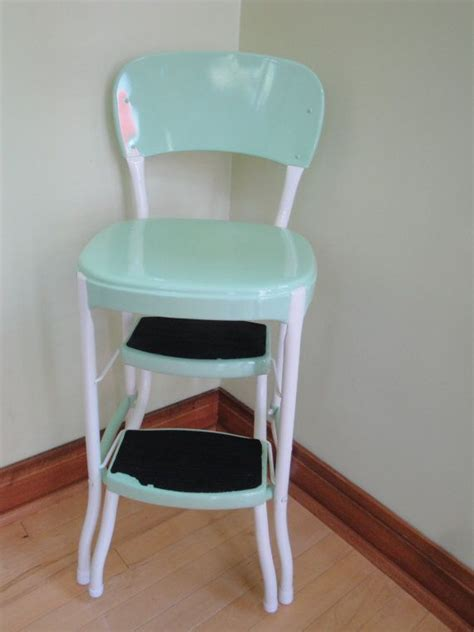 retro kitchen step stool nz vintage restored cosco kitchen step stool retro mint green