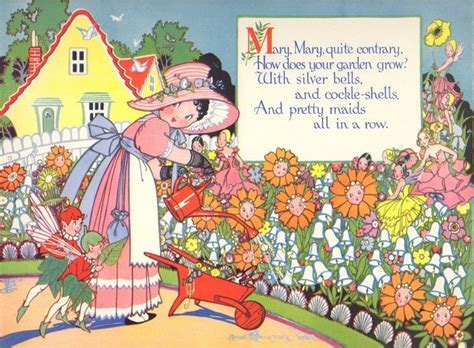 images of christmas mary mary quite contrary vintage nursery rhyme print mary mary quite contrary