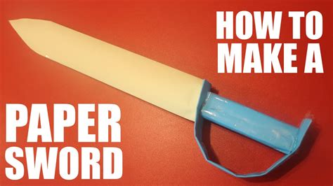 How To Make A Paper Weapons - how to make a paper sword