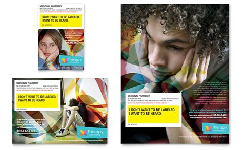 Adolescent Counseling Flyer Ad Template Word Publisher Free Mental Health Brochure Templates