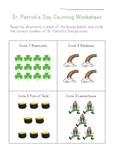 s day worksheet st s day counting worksheet
