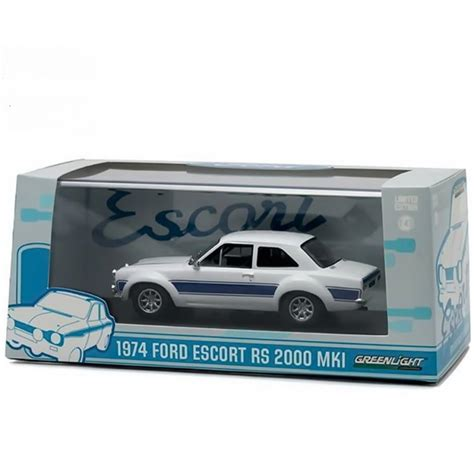 Kaos Greenlight Blue Sky Premium greenlight 1 43 gl86065 1974 ford rs2000 mk i white