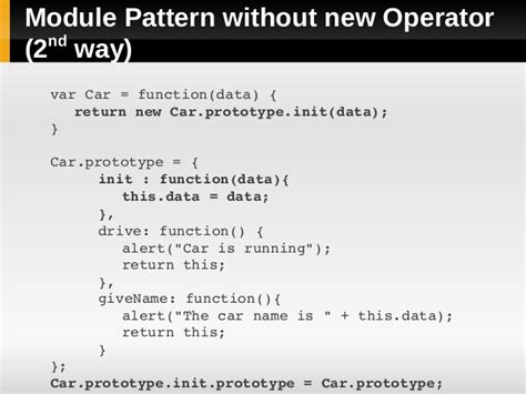 module pattern prototype javascript javascript prototype and module pattern