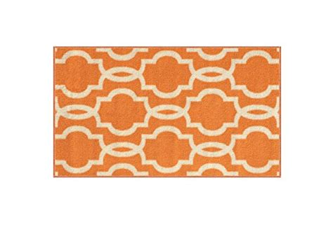 rubber backed kitchen rugs rubber backed mat 18 x 32 fancy moroccan trellis orange ivory doormat accent non slip rug