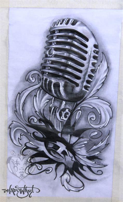 Microphone Tattoo Sketch | shadow art microphone tattoo sketch tatt pinterest