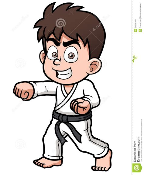 karate clipart karate boy clipart