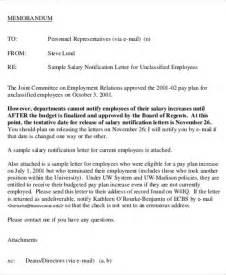Salary Letter Template by Salary Letter Templates 5 Free Sle Exle Format
