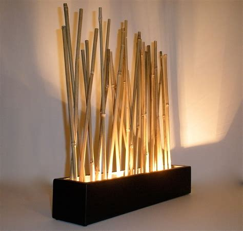 Bamboo Mood L Modern Japanese Style Tabletop Led Accent Japanese Lights