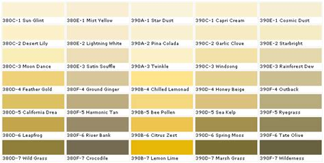 behr paints chip color swatch sle and palette nanopics bilder