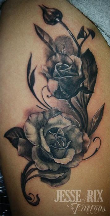 black and grey shaded rose tattoos vine designs secret lake tattoos tattoos