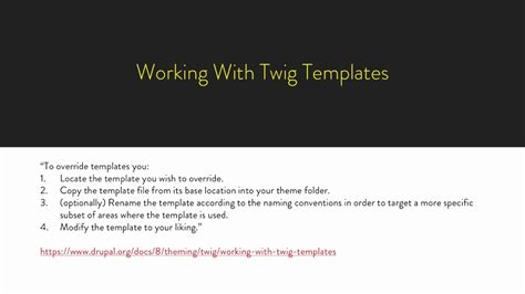 twig template variables talking twig