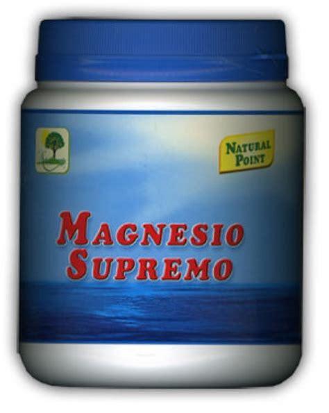 il magnesio supremo fa ingrassare magnesio supremo barattolo point erboristeria
