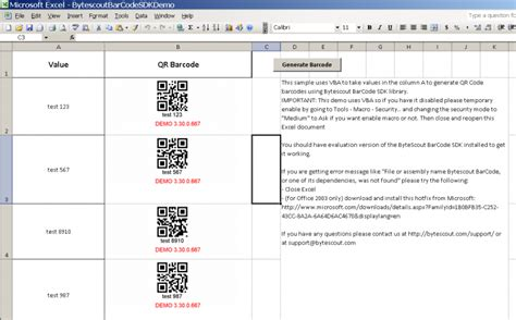 epl qr code exle generating qr code barcodes from cells in excel using vba