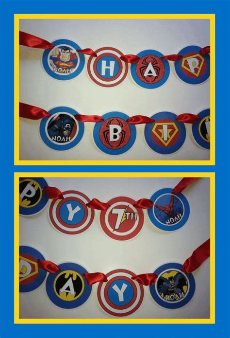 printable avengers birthday banner 8 best images about cumplea 241 os avengers on pinterest