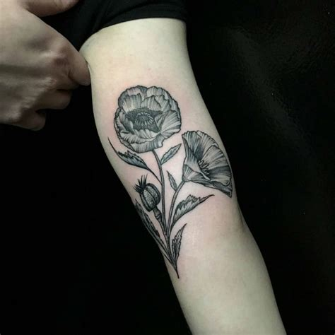 24 charming poppy tattoos