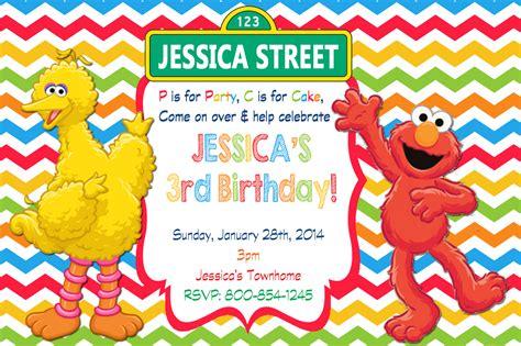 free sesame birthday invitation templates elmo sesame birthday invitations drevio