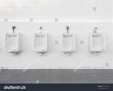 men s bathroom design close row outdoor urinals men public stock photo 613715003