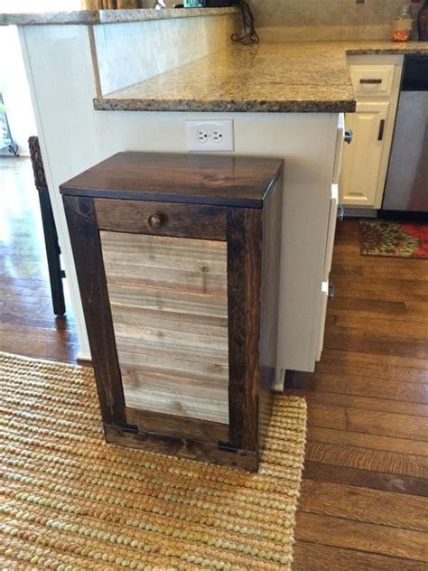 pallet kitchen trash bin pallet furniture plans