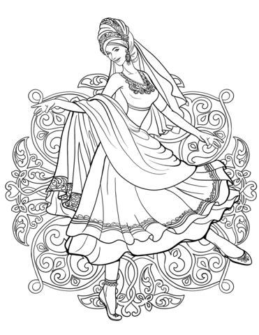 printable version in hindi colouring pages national costumes chinese clothes