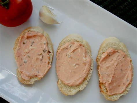 canape spread canapes with garlicky tomato spread recipe food com