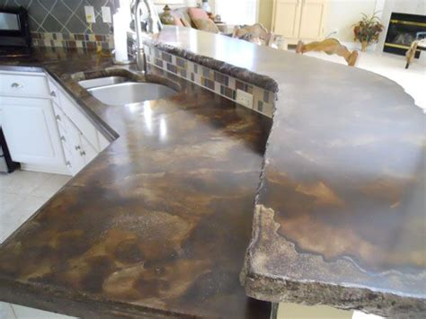 Staining Concrete Countertops by Stained Concrete Floors And Countertops Brown Acid