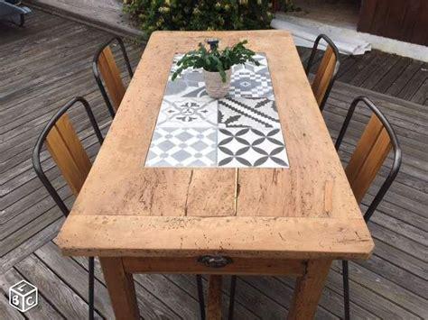 table carrelage table de ferme r 233 nov 233 e avec carreaux de ciment do it