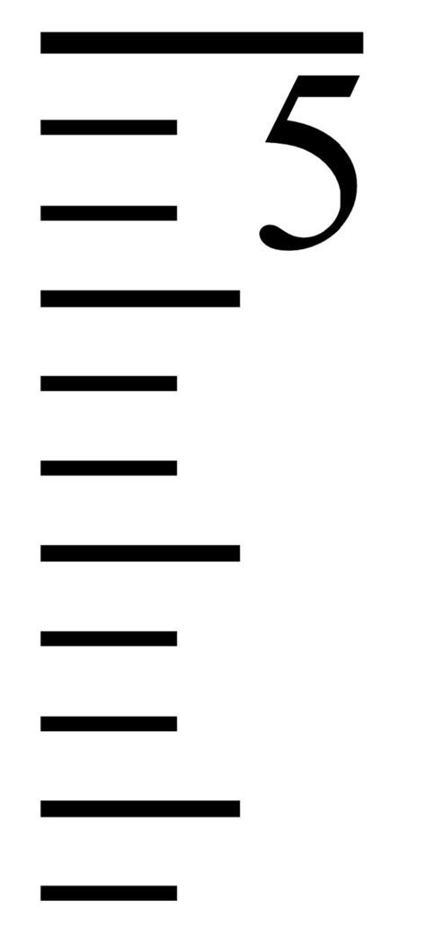 growth chart ruler marks amp numbers svg cut file