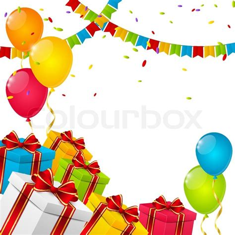 birthday layout vector birthday background for your design stock vector colourbox