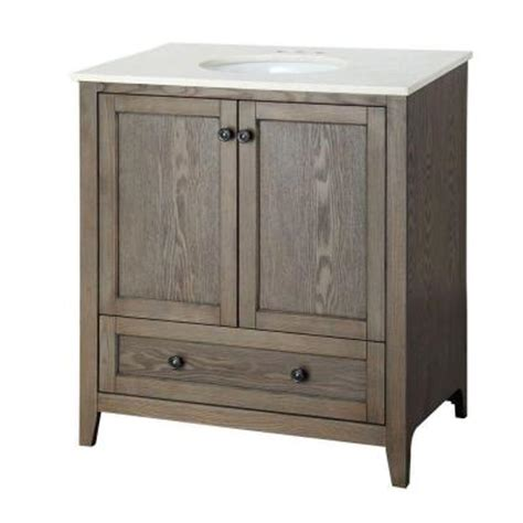 driftwood bathroom vanity home decorators collection brentwood 31 1 2 in vanity in