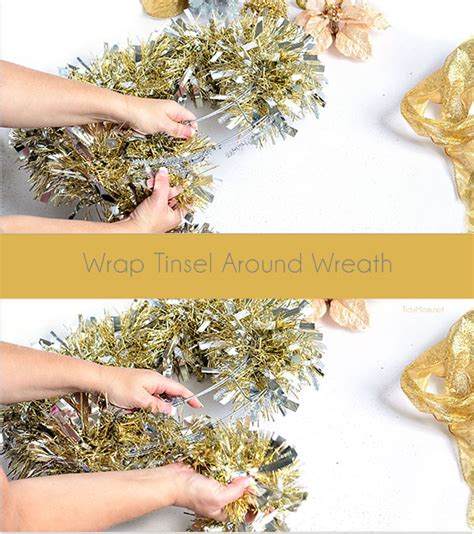 diy tinsel wreath tutorial